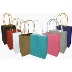 Lot de 12 Sacs en Papier Kraft de Couleur - 15 x 11 x 6 cm